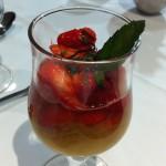 salade fraise rhubarbe
