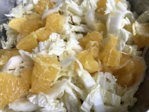 salade de chou blanc à l'orange